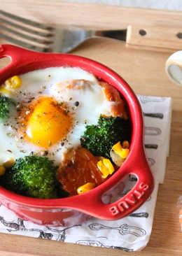 烤鮭魚鮮蔬蛋盅