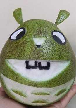 親子diy柚子『魔法2齒龍貓』