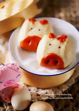 萌到心坎里的小奶豬饅頭