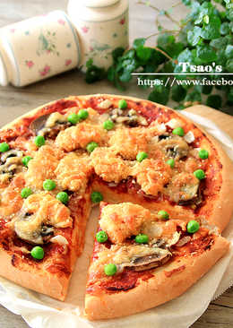 咖哩炸雞Pizza
