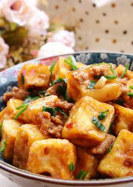 肉末燴豆腐