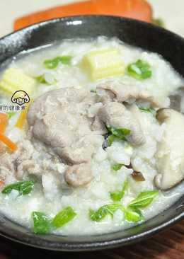 蔬菜肉片粥