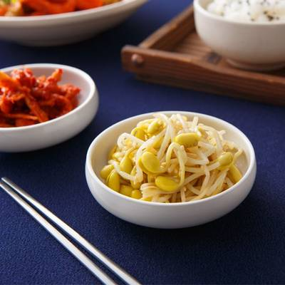 【家樂福廚房】韓式小菜》涼拌黃豆芽(不辣)