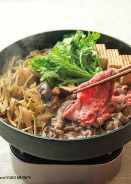 牛肉和牛蒡壽喜燒