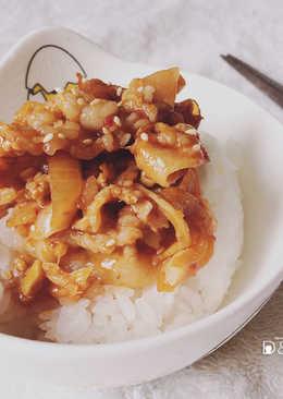 兩步驟快速料理-韓式辣炒五花肉-懶人料理