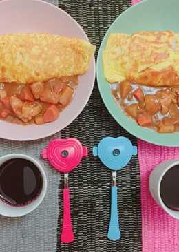 爪哇咖哩雞肉蛋包飯-電鍋做咖哩料理喲