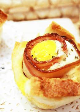 培根雞蛋土司塔