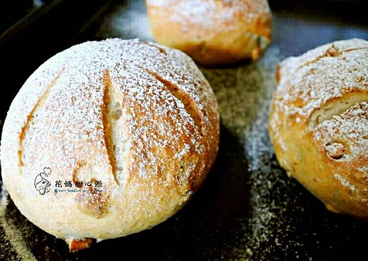 核桃裸麥麵包(少油少糖)