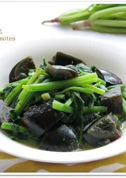 [皮蛋炒菠菜]簡單快速家常菜