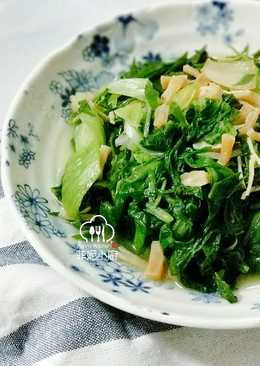 干貝絲炒芥菜(刈菜)
