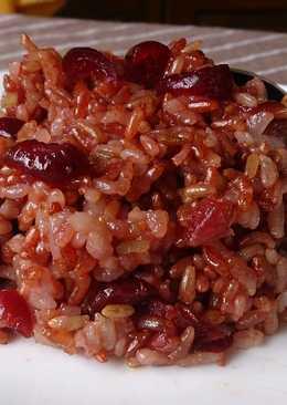 紅糯米蔓越莓米糕
