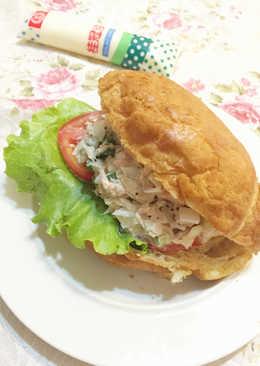 波蘿鮪魚可頌三明治