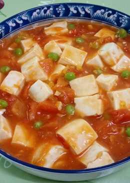 蕃茄燴豆腐(素食)
