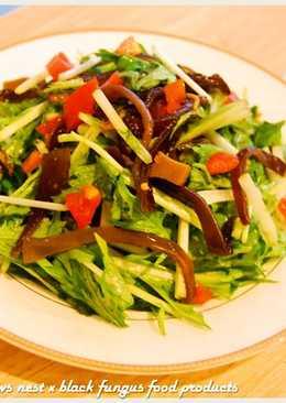 酸辣黑木耳水菜沙拉.柯媽媽の植物燕窩