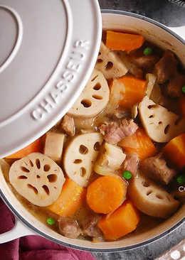 日式蓮藕燉肉 (馬鈴薯燉肉也適用)