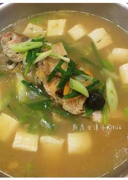 花雕豆腐燉魚湯
