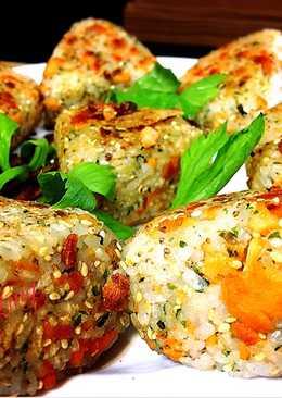煎(烤)烤鮭魚飯團
