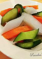 酸甜三彩泡菜