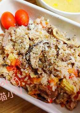 整顆番茄飯-雙菇紅酒牛肉豪華版