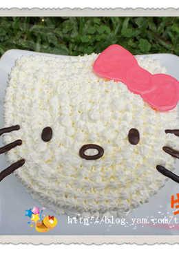 造型蛋糕原來並不難_Hello Kitty生日蛋糕