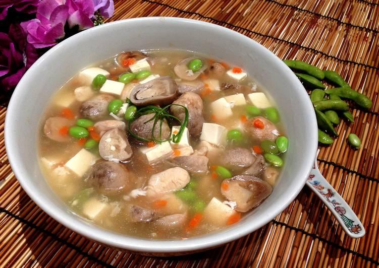 毛豆雞肉豆腐湯