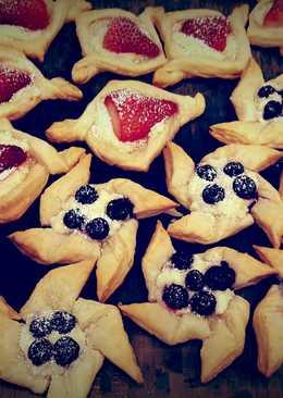 Puff Pastry 2 Ways:草莓酥派和藍莓風車酥派塔❤!!!