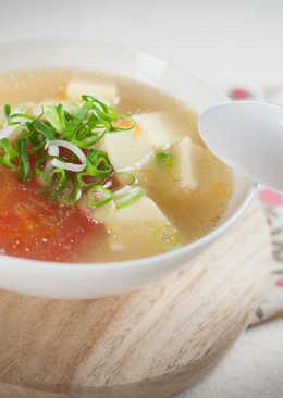 蕃茄雞蛋豆腐湯@美麗人妻Selina Wu