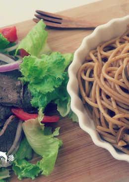 野菇牛排義大利麵