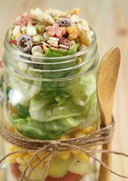 玻璃罐沙拉『薌園糙米堅果脆片』輕鬆上手