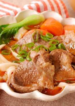 紅燒豬腱麵_電鍋料理