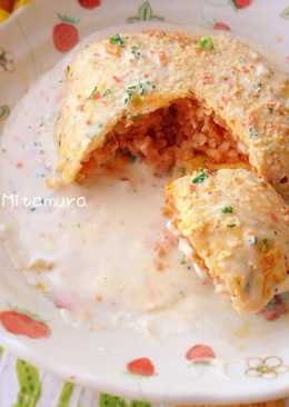 白醬蛋包飯