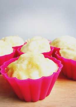 蒸蛋白蜂蜜杯子蛋糕