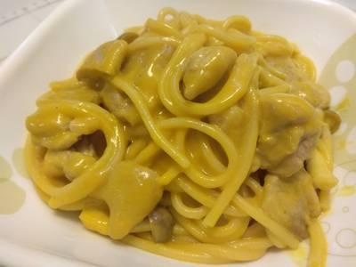 南瓜菇菇雞義大利麵
