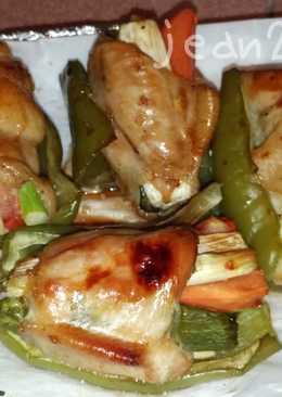烤雞翅蔬菜捲