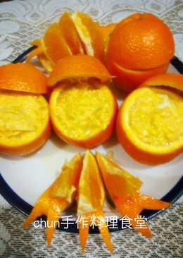 柳橙水餃蒸蛋