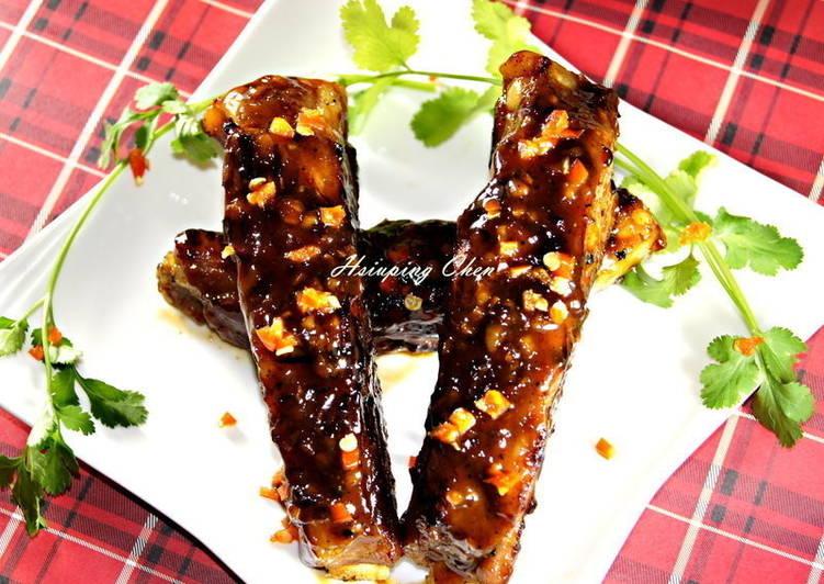 日式-蔥燒豬肋排