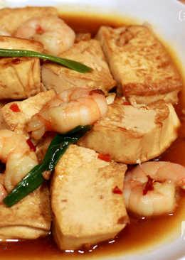 菲姐私房菜-紅燒蝦仁豆腐