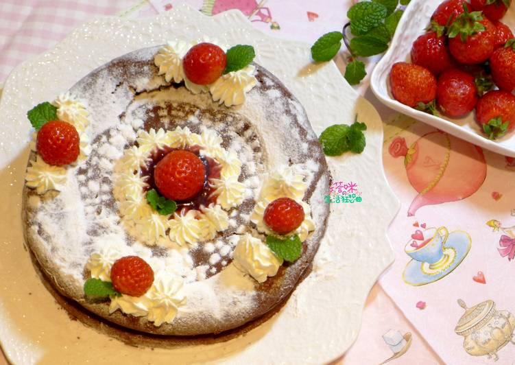 酒漬草莓巧克力蛋糕