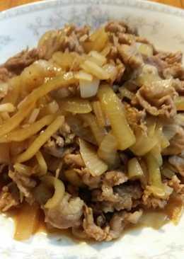 洋蔥豬肉片