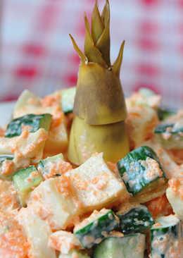 鮮蝦嫩筍沙拉
