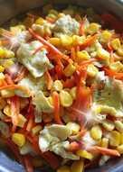 紅蘿蔔絲炒玉米蛋