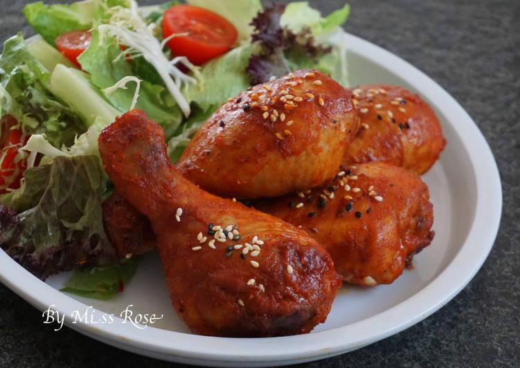 韓式辣醬烤雞腿