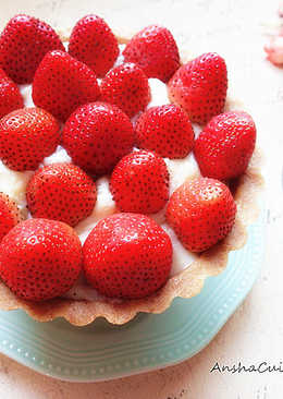 免烤箱♡草莓卡士達派