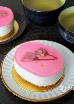 【免烤】櫻花起士蛋糕