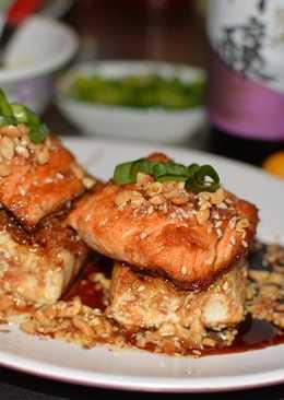 【御釀拌淋風味】御釀香嫩豆腐佐鮭魚