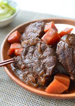 紅燒牛腱佐胡蘿蔔