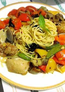 蠔油菇菇雞義大利媽媽麵