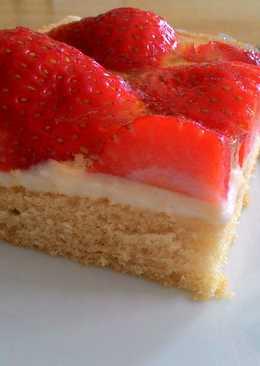 德式草莓蛋糕 Erdbeerkuchen (可免烤)