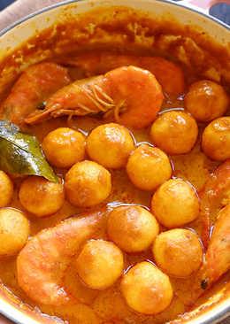 泰式咖哩鮮蝦魚蛋