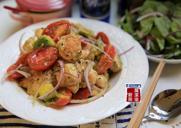 涼拌雞胸肉水果沙拉